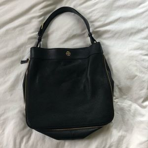 Tory Burch Black Pebbled Leather Bag